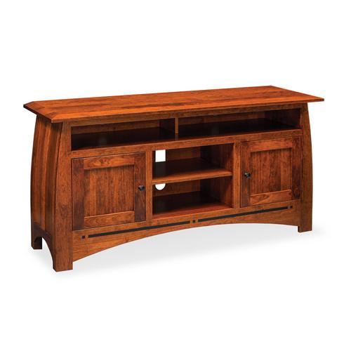 "Aspen TV Stand with Soundbar Shelf, Aspen TV Stand with Soundbar Shelf and Inlay, 62""w"