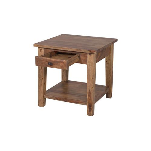 Tahoe Harvest End Table With Drawer, SBA-9010H