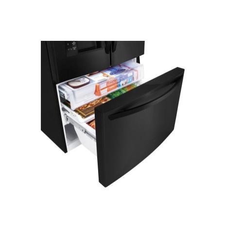 LG - 24 cu. ft. French Door Counter-Depth Refrigerator