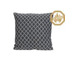 "66821580FR - ARABE Geometric Pillow Natural+Blue, Poly Fill, 20""x20"""