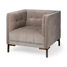 Odin I Cream Velvet Wrap Wood Base Club Chair