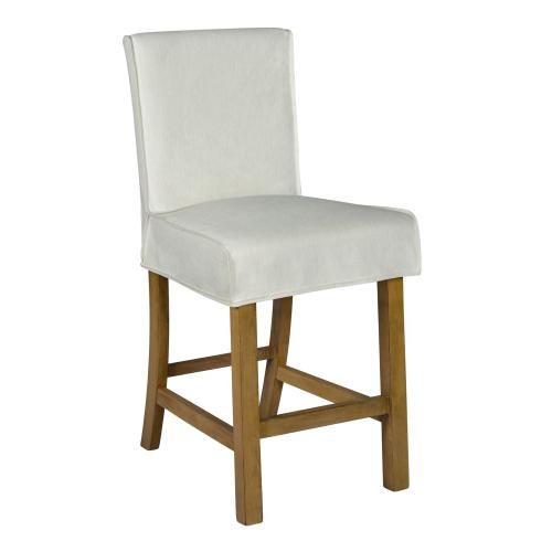 Forty West Designs - Short Stool Slip Cover-washable + Reversible White