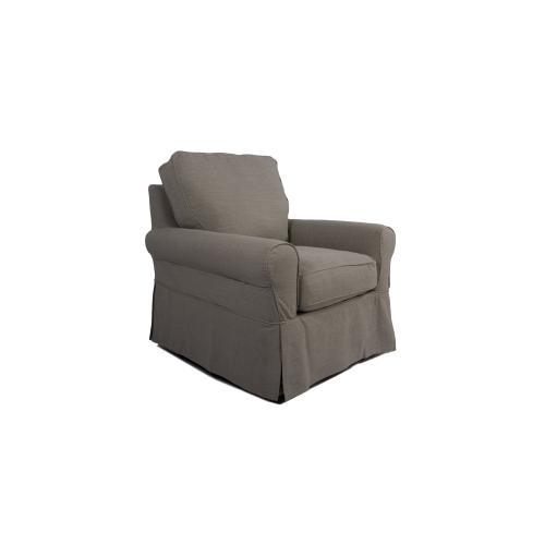 Horizon Slipcovered Swivel Rocking Chair - Color: 220591