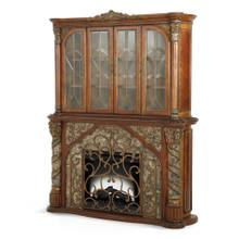 Fireplace With Display Cabinet