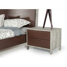 Nova Domus Conner Modern Dark Walnut & Faux Concrete Nightstand