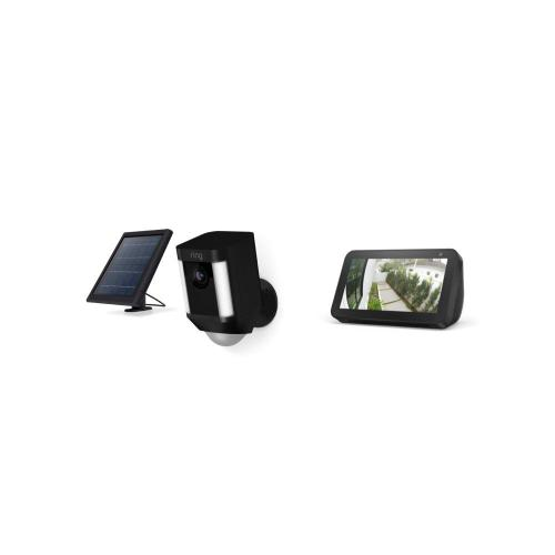 Spotlight Cam Solar with Echo Show 5 - Black
