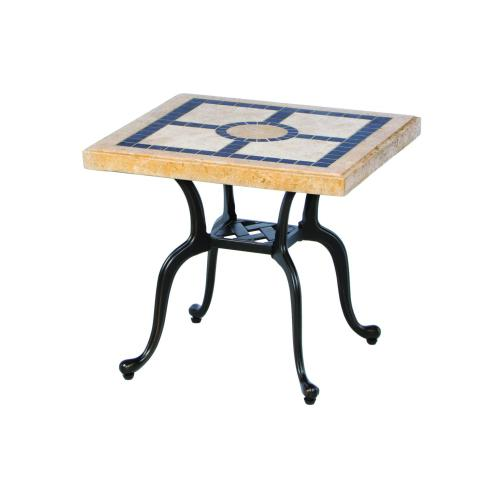 """Alfresco Home - San Remo 21 Square Marble Side Table (Stone Top Only)"""""""