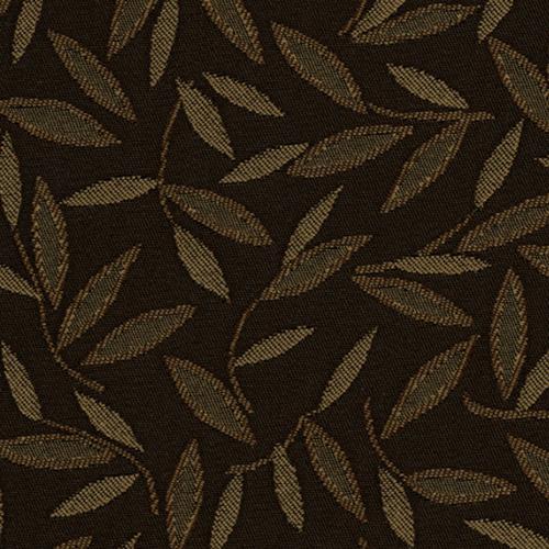 Flash Furniture - 18.5''W Church Chair in Jasmine Chocolate Fabric - Gold Vein Frame