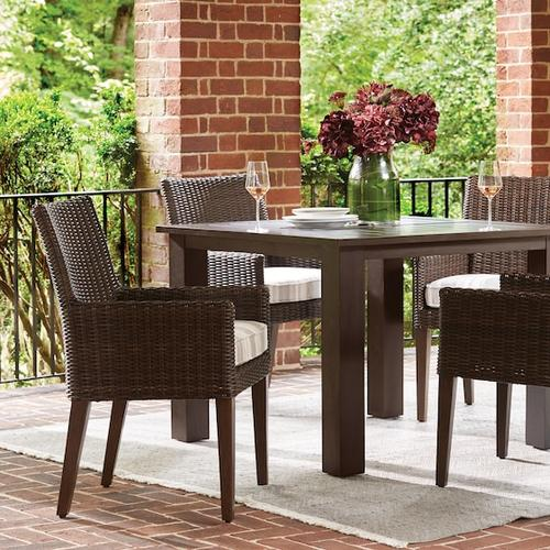 Bassett Furniture - Aluminum Farm Tables Square Dining Table