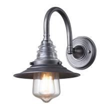 Insulator Glass 1-Light Wall Lamp in Weathered Zinc