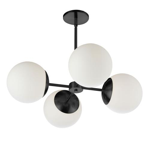 Product Image - 4lt Chandelier, Mb W/ Wh Glass