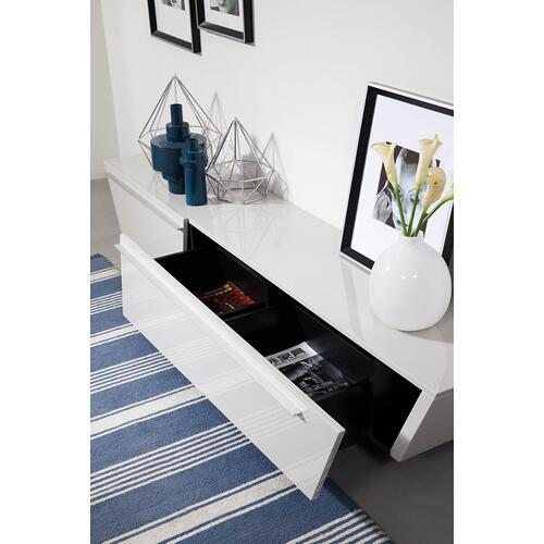 Modrest Barbara - Contemporary Glossy Light Grey TV Unit