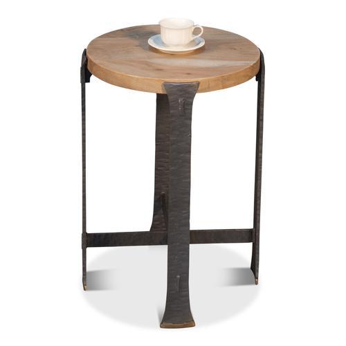 Forged Slats Side Table/Lionskin Finish