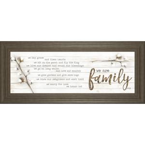 """""""We Are Family"""" By Marla Rae Framed Print Wall Art"""