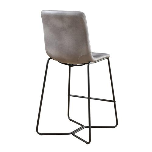 "Emerald Home Emmett 30"" Barstool-gray With Black Metal Legs-d248-30-03"