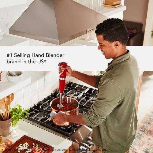 KitchenAid - Cordless Variable Speed Hand Blender - Empire Red