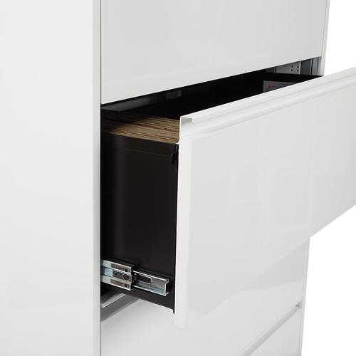 """36"""" Wide 4 Drawer Lateral File With Core-removable Lock & Adjustable Glides"""