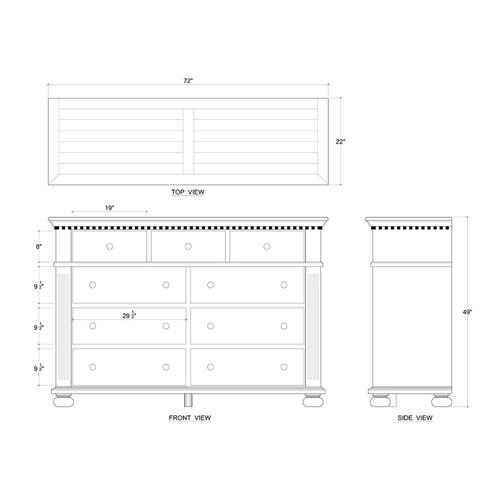 Alexander 9 Drawer Dresser
