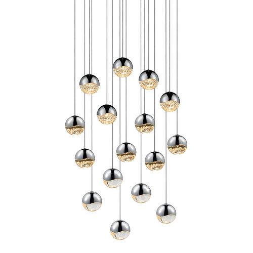 Grapes® 16-Light Square Medium LED Pendant