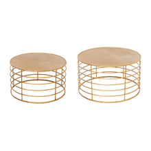 See Details - Gold Faux Bamboo Base Nested Coffee Table (2 pc. set)