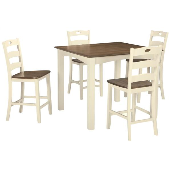 Woodanville Counter Height Dining Table and Bar Stools (set of 5)