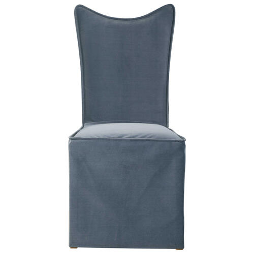 Delroy Armless Chair, Gray, 2 Per Box