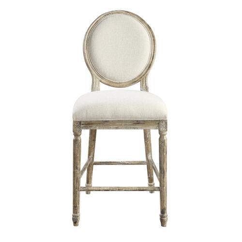 "Interlude 24"" Upholstered Bar Stool, Sandstone Buff D560-24-05"