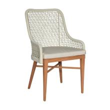 Flynn Outdoor Dining Chair, Teak/Synthetic Peel 23x22x35