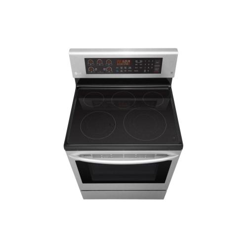 Gallery - 6.3 cu. ft. Electric Single Oven Range with True Convection and EasyClean®
