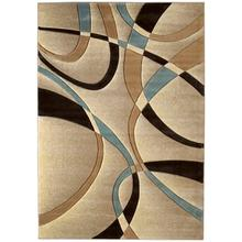Medium - Contours La Chic Beige 6x9 Rug