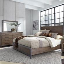 View Product - King Panel Bed, Dresser & Mirror