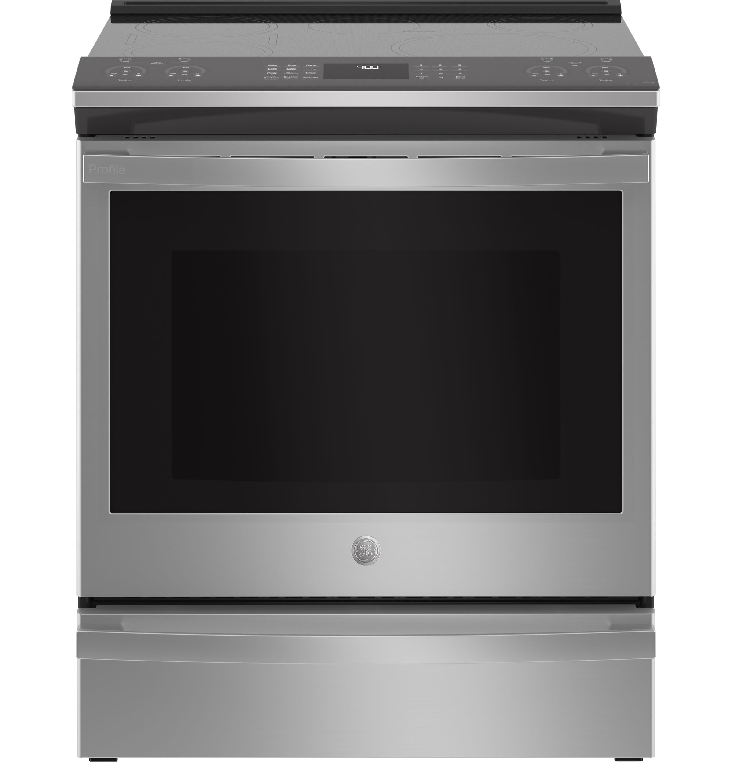"GEGe Profile™ 30"" Smart Slide-In Fingerprint Resistant Front-Control Induction And Convection Range With No Preheat Air Fry"