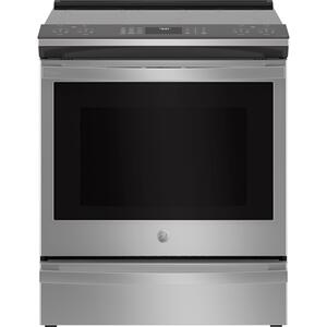 "GEGE Profile(TM) 30"" Smart Slide-In Fingerprint Resistant Front-Control Induction and Convection Range with No Preheat Air Fry"