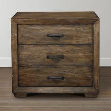 Western Brown Compass Nightstand