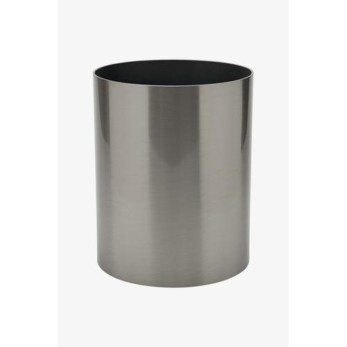 Waterworks - Luster Round Waste Can in Matte Nickel