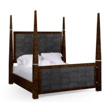 Faux Macassar & Anthracite Faux Shagreen Cali King Bed
