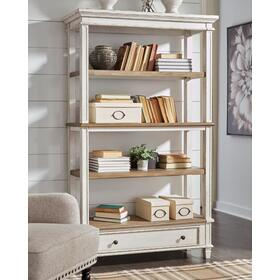 Realyn Bookcase White/Brown