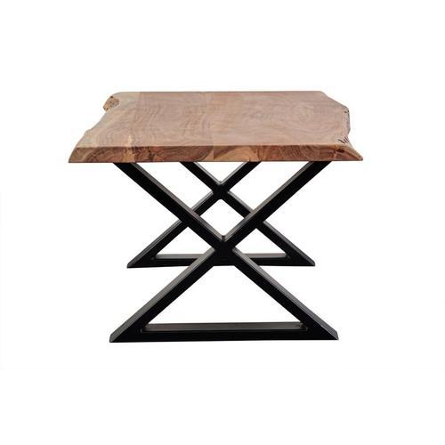 Manzanita Natural Acacia Coffee Table with Different Bases, VCA-CT48N