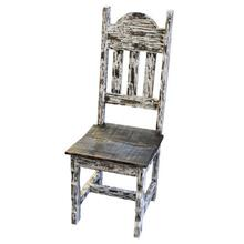 White Scrape Wood Plain Chair