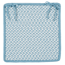 "Outdoor Houndstooth Tweed Chair Pad OT56 Sea Blue 15"" X 15"" (Single)"