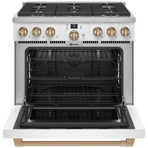 """Cafe - Café™ 36"""" Smart Dual-Fuel Commercial-Style Range with 6 Burners (Natural Gas)"""