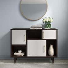 See Details - Daxton Display Stand in Cappuccino White