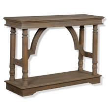Weathered Wood Trestle Table  33in X 47in X 15in  Console Table