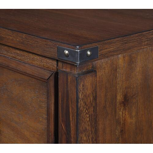 Baton Rouge 2 Drawer File Cabinet In Brushed Walnut Finish
