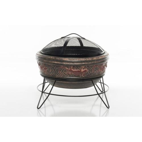 Earthenware Large Gecko Fire Pit w/ stand + screen