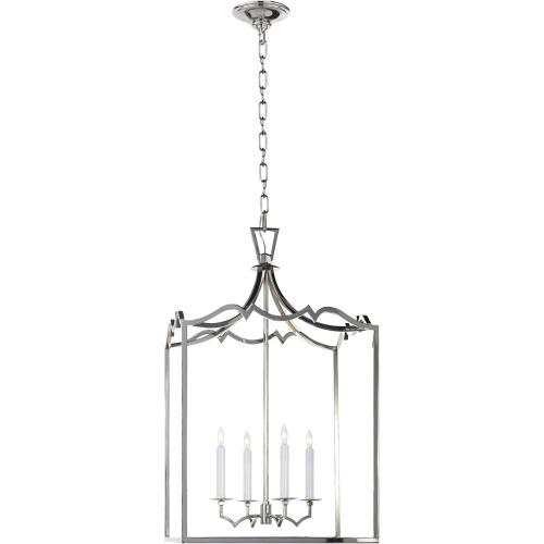 Visual Comfort CHC2181PN E. F. Chapman Darlana 4 Light 17 inch Polished Nickel Foyer Pendant Ceiling Light