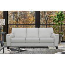 """See Details - Bergen 87"""" Dove Grey Genuine Leather Square Arm Sofa"""