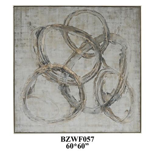 """Product Image - 60""""X60"""" abstract,solid wood framed oil painting 1PK/7.46'"""