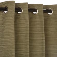 See Details - Sunbrella Dupione Laurel Outdoor Curtain with Grommets