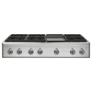 "Cafe Appliances48"" Professional Gas Rangetop with 6 Burners and Griddle (Natural Gas)"